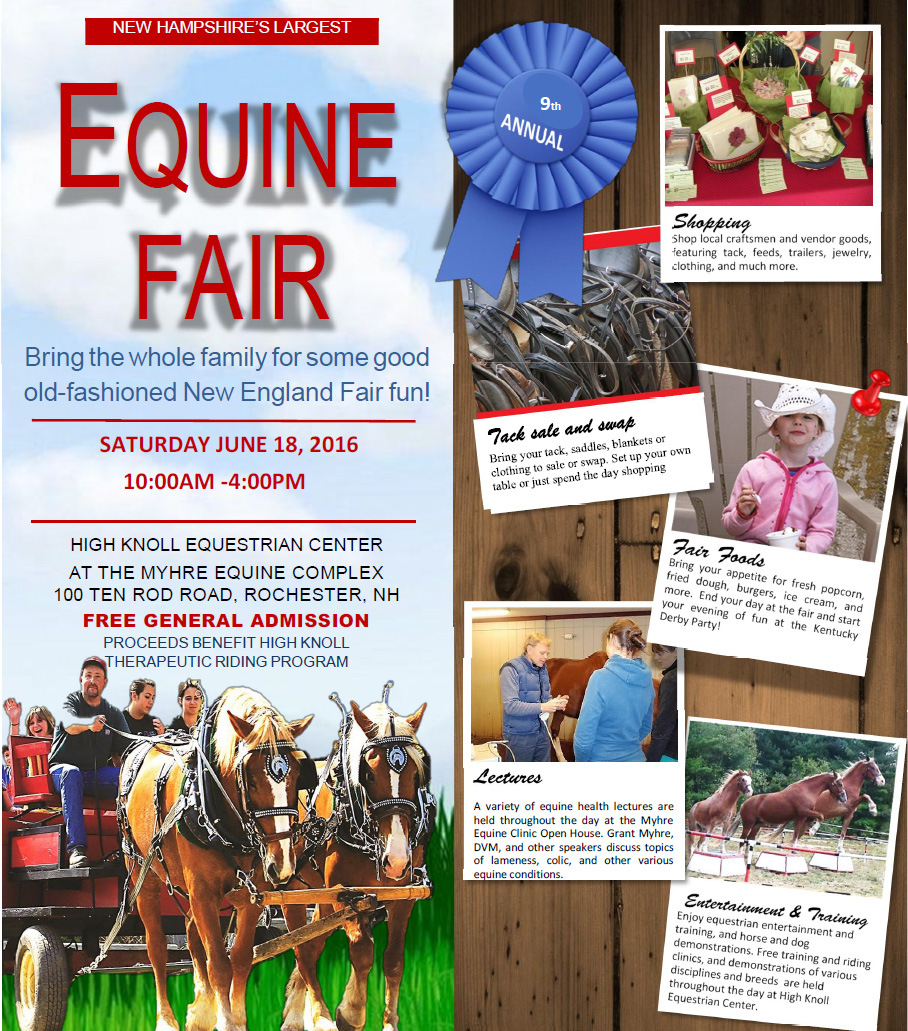 Equine Fair 2016, free general admission, 10AM to 4PM